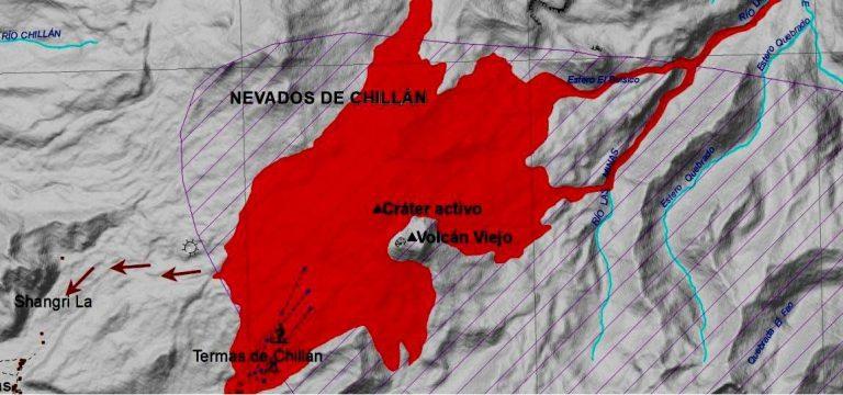 """Declaran """"Alerta Naranja"""" por complejo volcánico Nevados de Chillán"""
