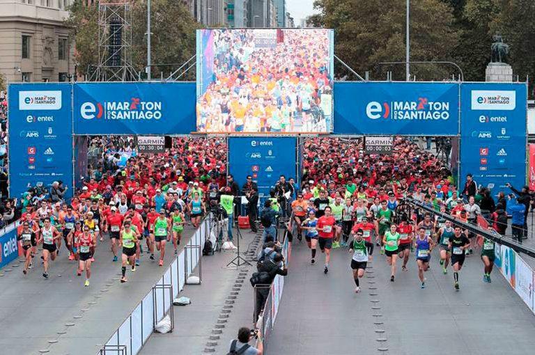 Intendencia informó sobre cortes de calles y desvíos de tránsito por Maratón en Santiago
