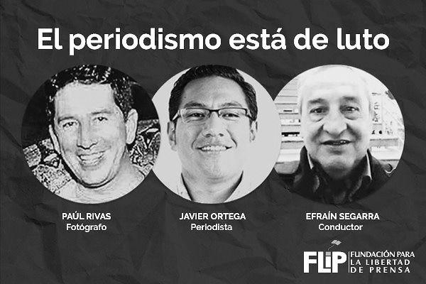 Cuerpos de los periodistas asesinados en Colombia siguen allí