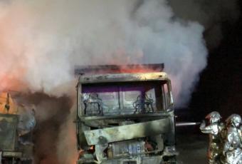 """Mayol califica de """"terrorismo"""" la quema de maquinaria y anuncia que invocarán la Ley Antiterrorista"""