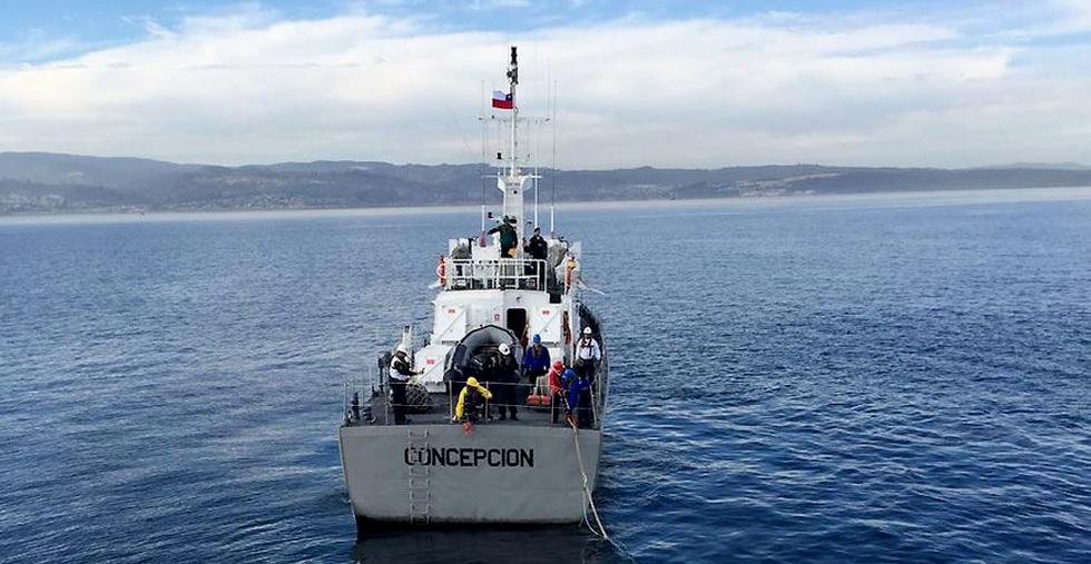 Después de 15 días perdido en el mar encuentran a marino que cayó de lancha naval en el Golfo de Arauco