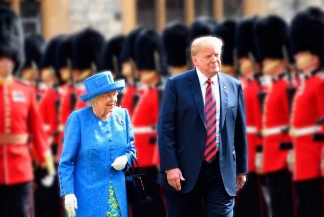 Trump humilla a la reina Isabel II, tras quebrar protocolo real