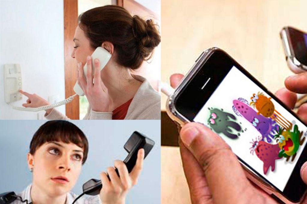 Expertos recomiendan limpiar en profundidad el celular, teléfono fijo y citófono