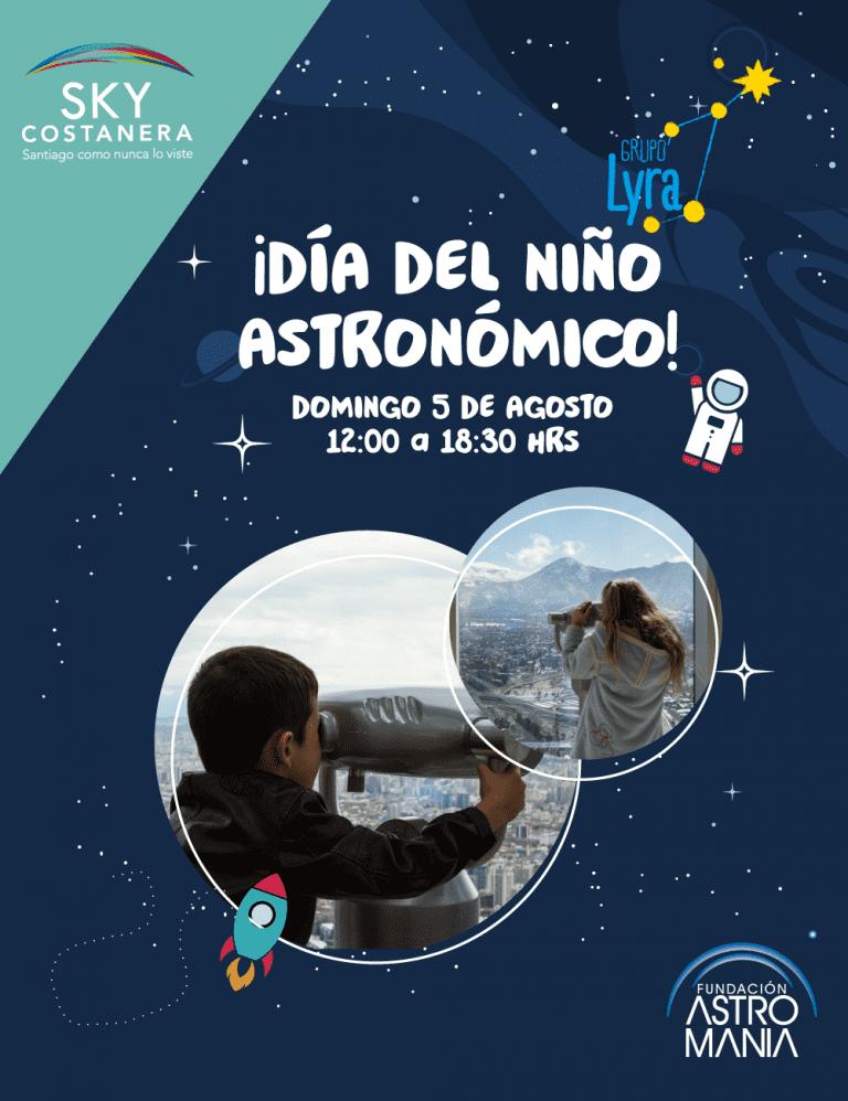 En conjunto con Fundación Astromanía: Sky celebrará Día del Niño con una fiesta entre las estrellas