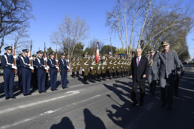 Presidente Piñera conmemora los 240 años del natalicio de Bernardo O'Higgins en Chillán Viejo