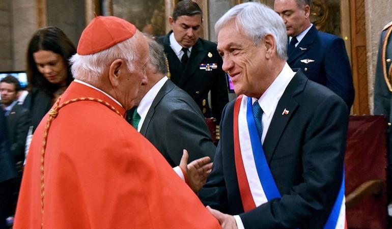 "Presidente Piñera valora bajada de Ezzati del Tedeum: ""Contribuye a la Paz"""