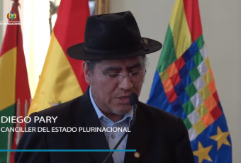 Bolivia acusa que dichos de canciller no responden a la verdad ni al respeto entre los pueblos