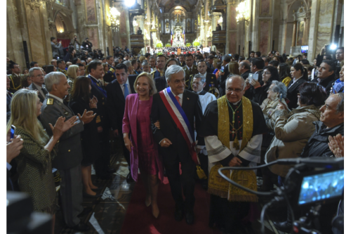 Presidente Piñera vuelve a defender Ley de Igualdad de Género ante protestas en Te Deum