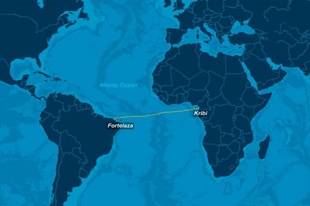Red de fibra óptica submarina une África y América del Sur