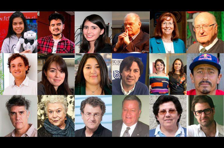 """Estos son los finalistasde la primera versión delpremio""""Mejor Chileno del Año2018"""""""