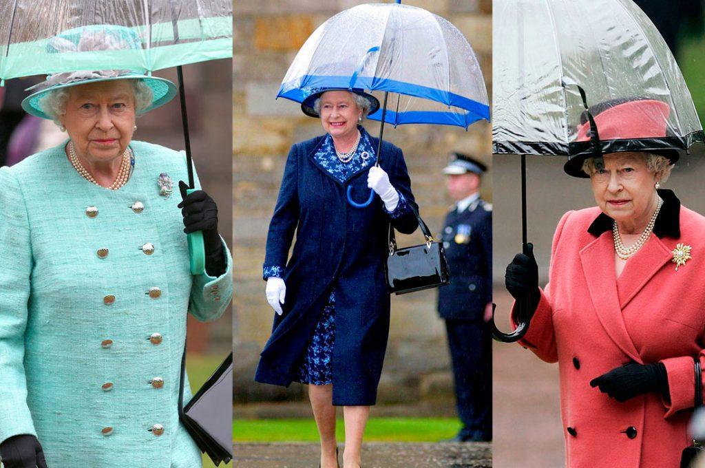 Los paraguas de la Reina Isabel II