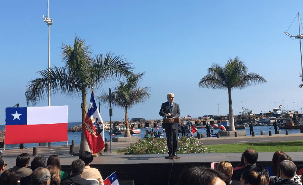 Presidente Piñera asegura que Michelle Bachelet jugó un rol clave en defensa de Chile en La Haya
