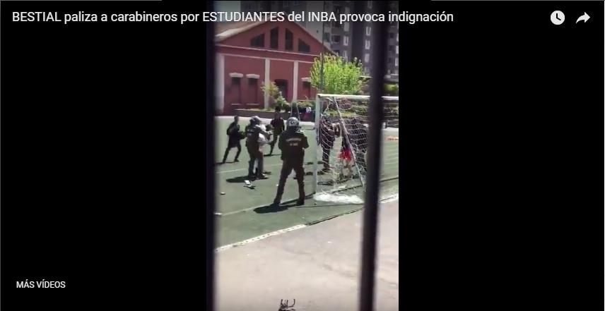Difunden vídeo de agresión a Carabineros y piden celeridad a proyecto Ley Aula Segura