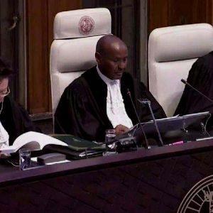 Abdulqawi Ahmed Yusuf, presidente de la Corte Internacional de Justicia al leer el Fallo por la demanda boliviana