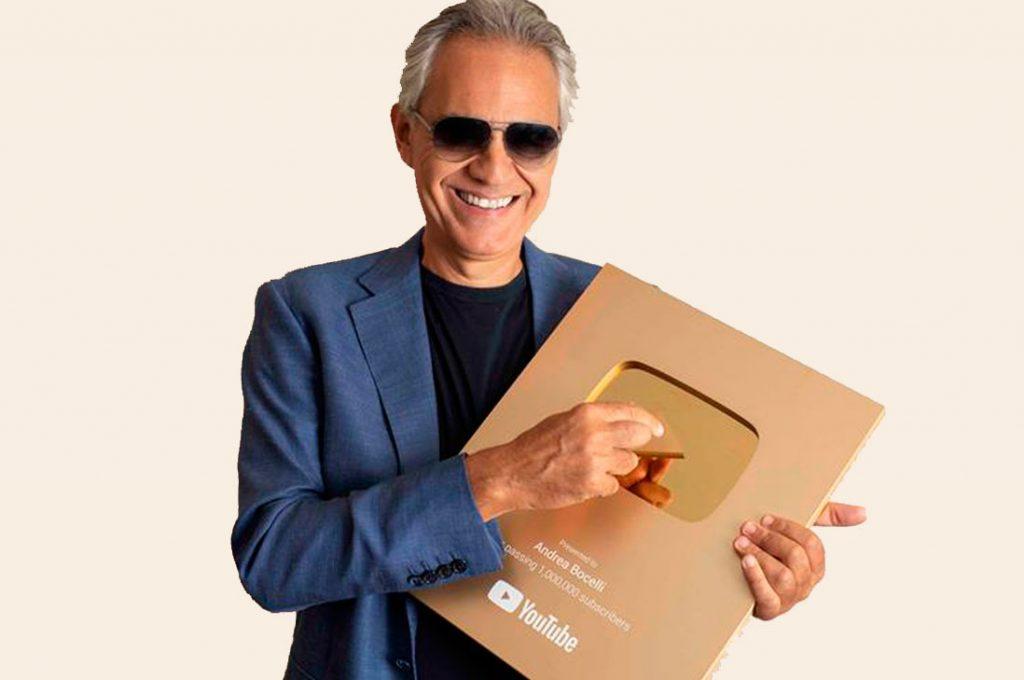 Andrea Bocelli logra uno de los mayores hitos digitales