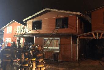 Tragedia en Valdivia: Tres niños mueren en incendio que consumió su vivienda