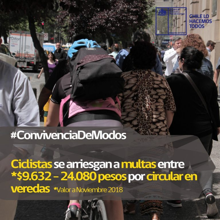 """Hoy entra en vigencia la nueva """"Ley Convivencia Vial"""" que multará a ciclistas que anden por las veredas"""