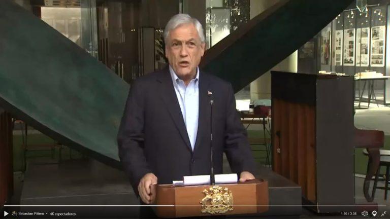 Encuesta Adimark muestra un rechazo de 49% a la gestión el Presidente, Sebastián Piñera