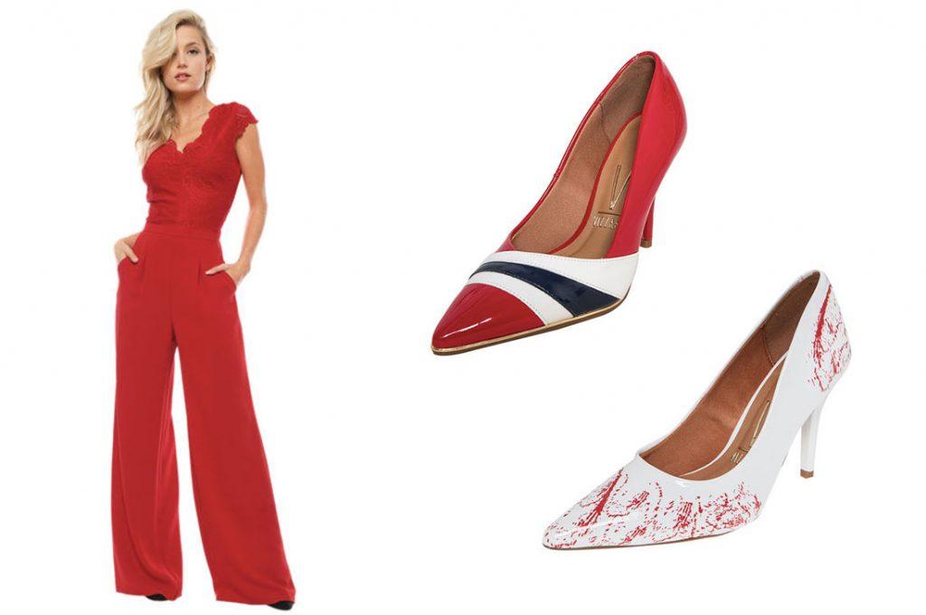 Blanco y rojo: full tendencia en zapatos para fiestas de final de año