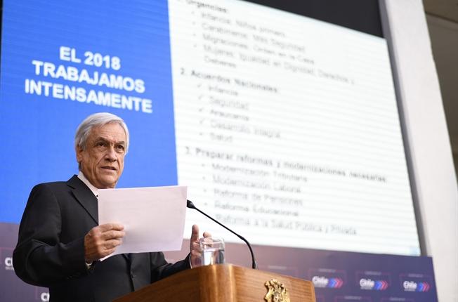 Presidente Piñera destaca sólido crecimiento de Chile en conferencia con renombrados economistas
