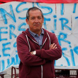 Osvaldo Quevedo, dirigente de los trabajadores portuarios eventuales de Valparaíso