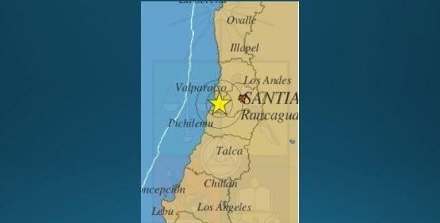 Fuerte sismo 5,6° sacude a cinco regiones del país