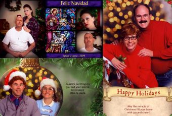 Esta familia recrea las escenas más divertidas para sus tarjetas de Navidad