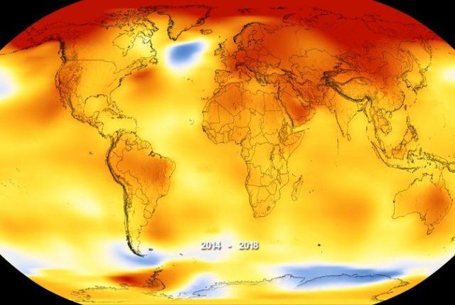 Calentamiento Global en marcha: Informe revela que 2018 fue el cuarto años más cálido. Los próximos 5 años podrían batir récords