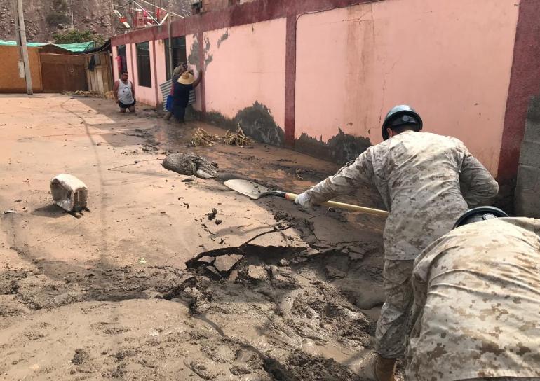Ejército se despliega en el norte grande para ayudar a afectados por lluvias