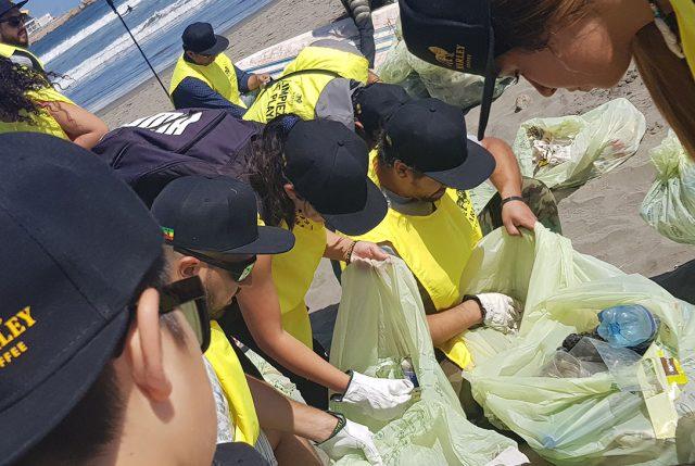 130 voluntarios llegaron a jornada de limpieza de residuos en playa de Concón