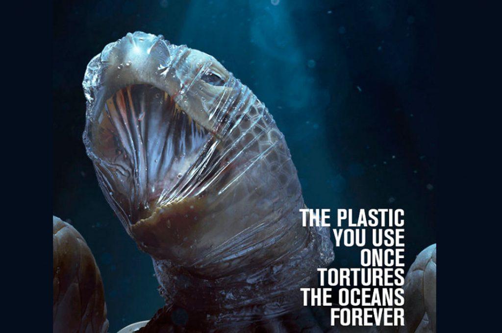 Impactante campaña usa imágenes gráficas para señalar el daño que hacen los plásticos a la fauna marina