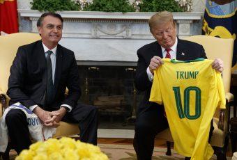 """Amor sin barreras: Trump y Bolsonaro sellan amistad """"nunca han estado más cerca"""""""