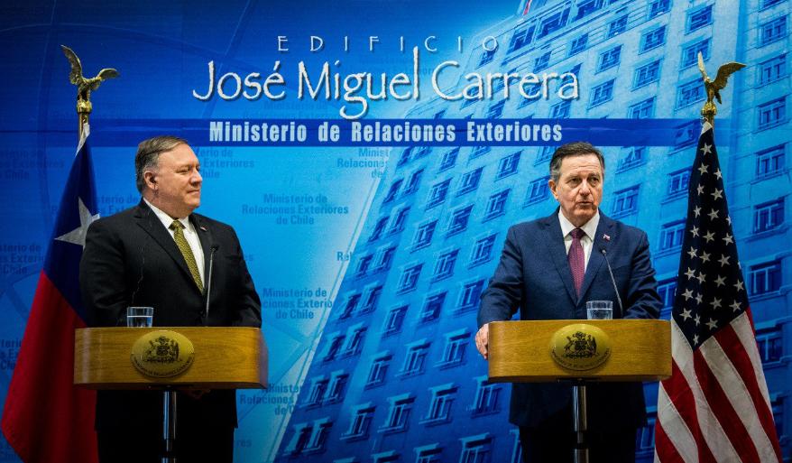 Venezuela y relaciones bilaterales fueron los temas que hablaron Pompeo y Ampuero