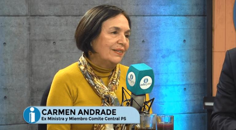 """Carmen Andrade y crisis en el PS: """"El narcotráfico es una de las peores lacras que nos podría ocurrir"""""""