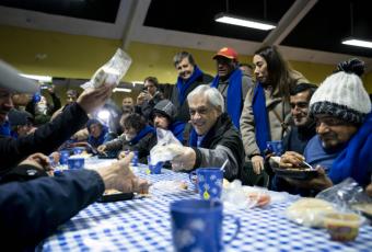 """Piñera en versión 'Código Azul':  """"No queremos que ningún chileno muera de frío en nuestro país"""""""