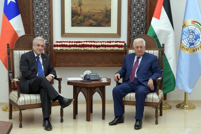 En Palestina Piñera reafirma que Chile es partidario de un Estado Palestino y uno israelí