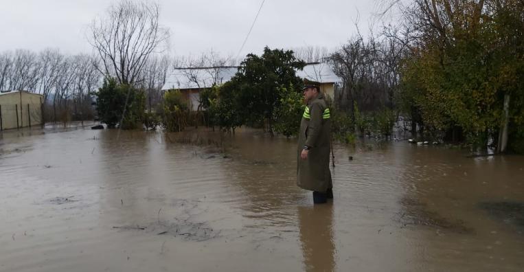 Un muerto, damnificados, personas aisladas y viviendas dañadas deja paso del sistema frontal en Ñuble, Biobío y La Araucanía
