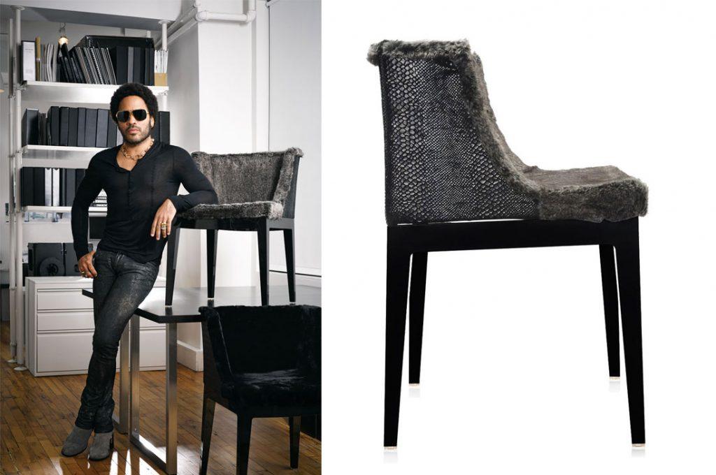 Silla diseñada por Lenny Kravitz estará pronto al alcance de todos