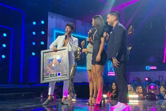 Sebastián Yatra recibe certificación Platino de Runaway en Estados Unidos y Puerto Rico
