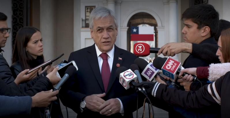 Piñera pide a Bachelet que informe sobre Venezuela sea entregado a la Corte Penal Internacional