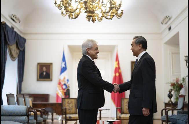 Piñera aborda con canciller chino temas de comercio, inversiones y situación en Venezuela