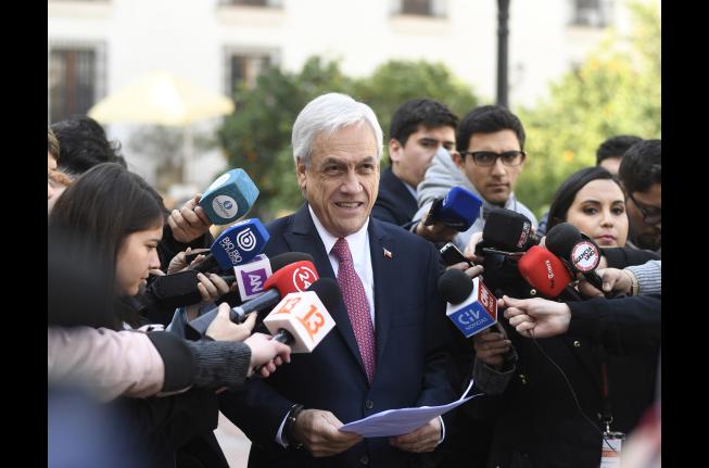 Vocera celebra resultado de encuesta que ubica a Piñera como el Pdte. más valorado de la región