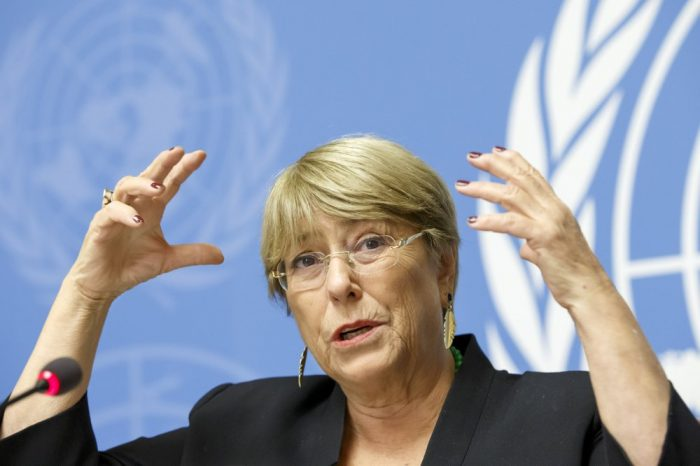 Bachelet pide a Gobiernos a no usar crisis del CORONAVIRUS para vulnerar DDHH