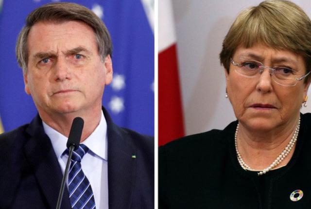 Bolsonaro ataca a Bachelet y le enrostra que sin Pinochet, Chile sería una Cuba