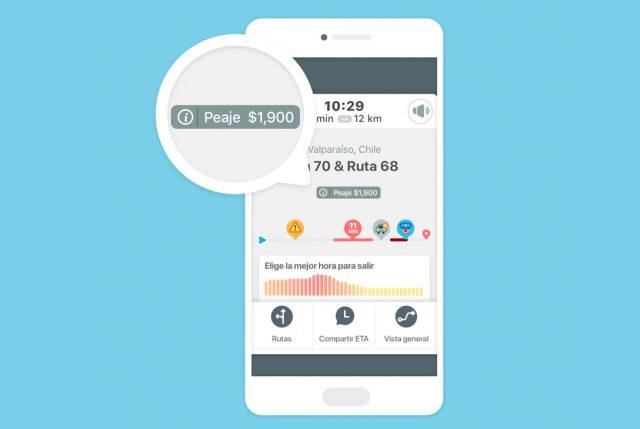 Waze lanza nueva función que permite a las personas consultar y comparar precios de peajes