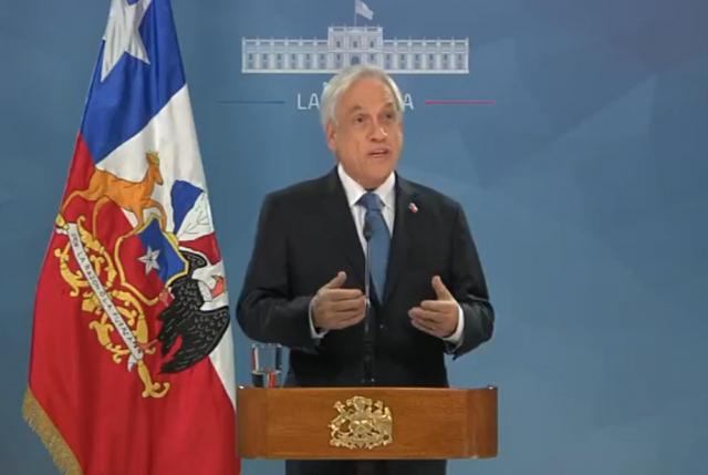 Presidente Piñera propone nuevo pacto social y abre la puerta a revisar tarifas de servicios básicos