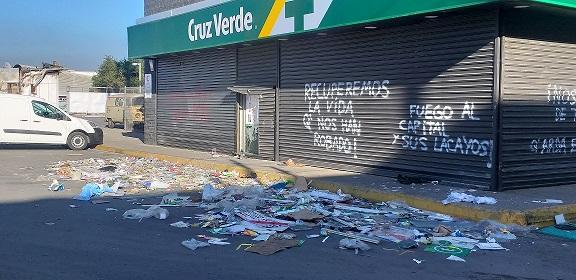 Cámara de Comercio cifra en más de US$1.400 millones las pérdidas por masivas movilizaciones sociales