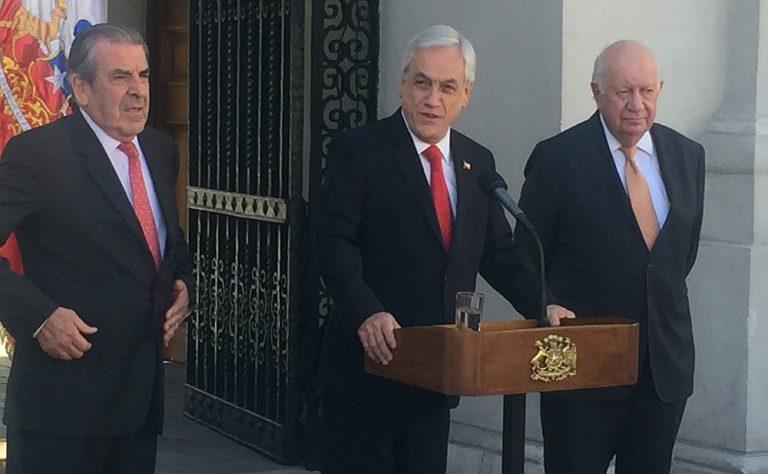 Piñera se reúne por tercera vez con Frei y Lagos en La Moneda