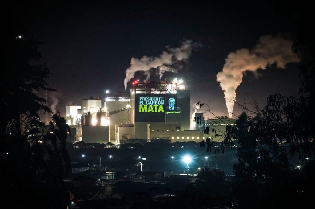 """Greenpeace advierte que programa de descarbonización del Gobierno """"ennegrece"""" supuesto liderazgo del Pdte. Piñera"""
