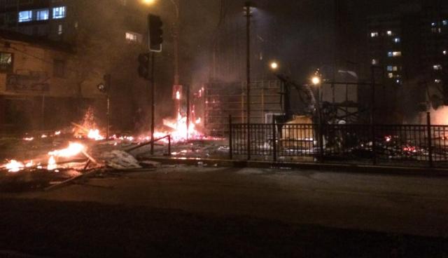 Chile fuera de control: Violentas manifestaciones en Valparaíso, Concepción y Punta Arenas
